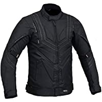 Inserto Hombre Motocicleta Protección Chaqueta Impermeable - Negro, Medio