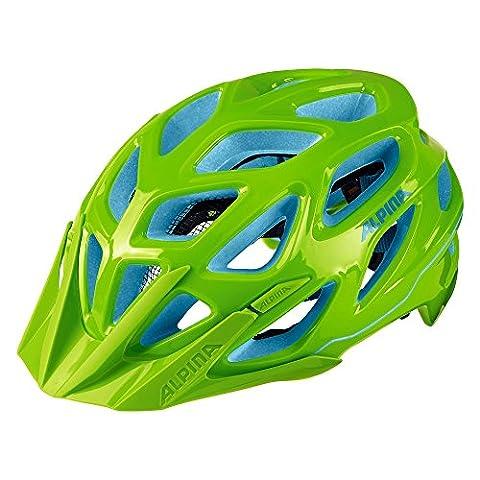 ALPINA A9712170 Fahrradhelm Mythos 3.0 MTB neon, Gr.52-57cm, neon grün/blau (1 Stück)