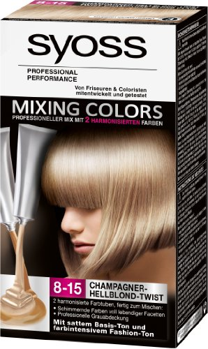 Syoss Mixing Colors 8-15 Champagner-Hellblond-Twist, 1er Pack (1 Stück)