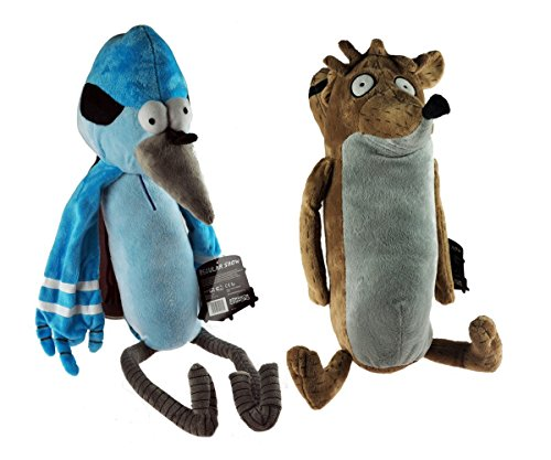 Regular Show Twin Pack Rigby & Mordecai 12""
