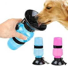 House of Gifts Travel Pet Dog Water Bottle Mug, Standard (sog-28-june-01, Multicolour)