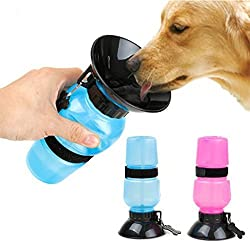 Sevia Sevia Portable Plastic Aqua Travel Water Bottle Bowl for Pets(Multicolour, Standard Size)