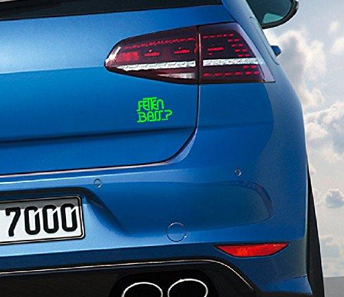 Fetten Bass..? Aufkleber Auto jdm oem Sticker Felgen Aufkleber Audi Vw BMW 12x8cm grün