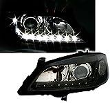 AD Tuning GmbH & Co. KG DEPO Scheinwerfer Set Klarglas Schwarz mit LED Tagfahrlicht Optik