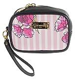 Camomilla Milano-Pochette c/manico S stripe&flower rosa