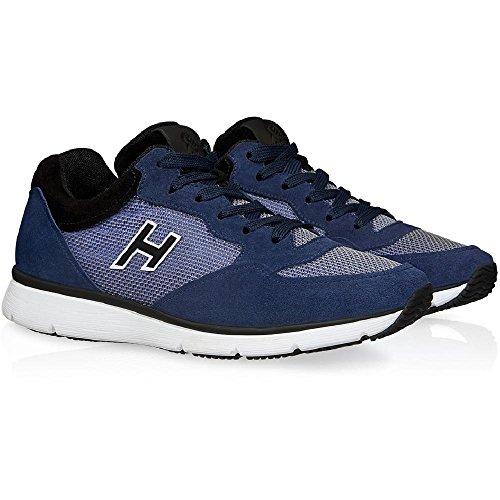 Basket Hogan en suède bleu foncé avec tissu technique - Code modèle: HXM2540S421BZ9897M Bleu foncé