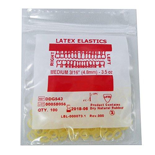 Bandas Elásticas Ortodoncia ~ Ligas Látex 3/16 3.5