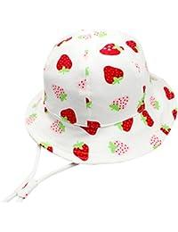 Langzhen Sombrero de Sol Gorro Bebé Gorra con Barbijo Niñas Hat de Pescador  Tamaño Ajustable Cordón f0b0d3267c0