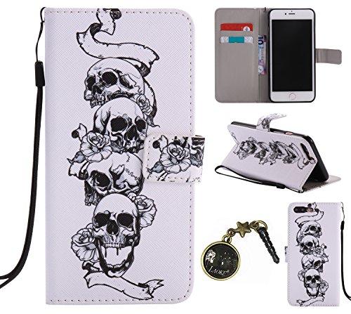 Hülle iphone 7 Plus Hülle,PU Leder Flip Hülle für Apple iphone 7 Plus/iphone 8 Plus (5.5 Zoll) Tasche Case Cover Schutzhülle Handyhülle # (5)