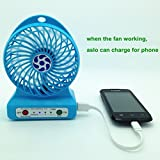 Avive 3 speed portable fan with torch and emergency power bank (2600mah)