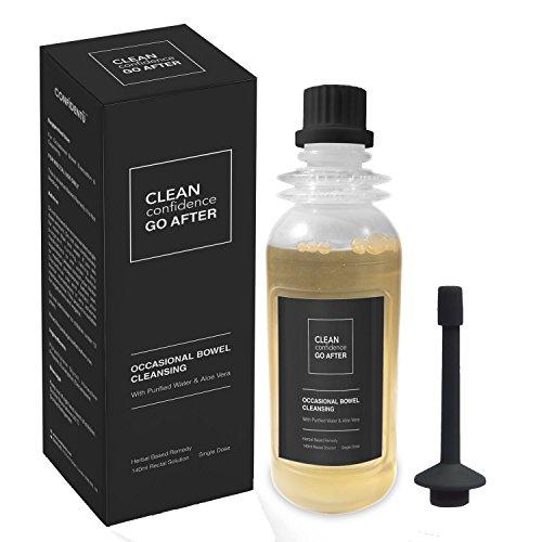 CLEAN Confidence GO AFTER gelegentlicher Darmreinigung mit reinem Wasser & Aloe Vera - 140ml Flasche mit rektaler Lösung von ConfidentU