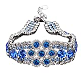 Veuer Schmuck für Damen Edles Armband Platiniert Silber-Blau Kristall-Stein Geschenk für die Frau / Freundin / Frauen