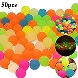 Joyibay 50 STÜCK Kinder Hüpfball Pool Schwimmer Ball LED Leuchtende Kugel Ball Spielzeug für Party (Zufällige Farbe)