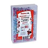 Fischer 535972 Meister-Box DUOPOWER mit Schrauben, Universaldübel Set, 160 Stück