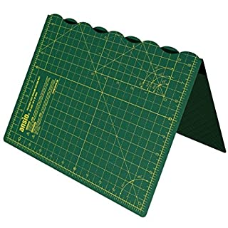 ANSIO A3 Foldable Self Healing Cutting Mat Imperial 17 Inch x 11 Inch - Green