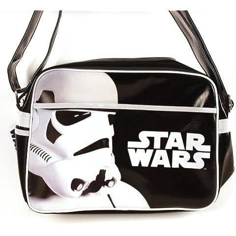 Star Wars - bolso bandolera de Soldado de Asalto - para forofos de la ciencia ficción - cartera escolar - blanca y negra