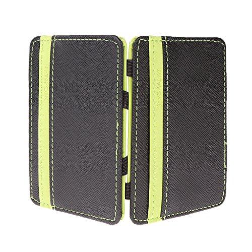 Fenteer Männer Magic Wallet Geldbörse orange grün magische Brieftasche Kreditkarten Damen Klein Slim Portemonnaie Geldbeutel - Grün, wie beschrieben (Für Frauen Magie Brieftasche)