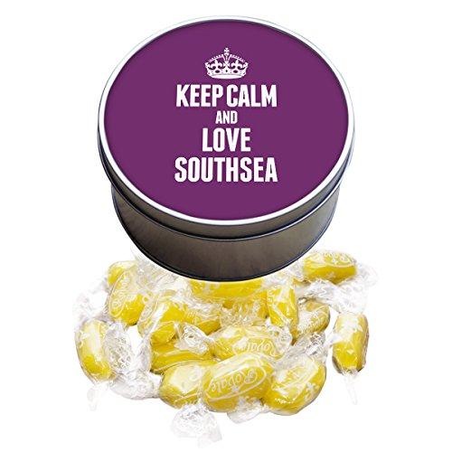 Violett Keep Calm und Love bezogene Lehnstuhl Southsea Lemon sherbets Sweet Dose 0595