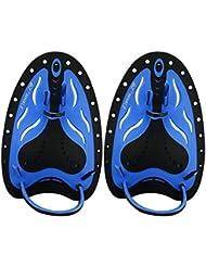 E-more Professional la natation Pagaies à la main Pagaies de natation d'entraînement de natation Pagaies de large plat pour homme femme enfant