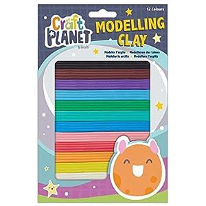 Craft Planet CPT 658010 - Arcilla para modelar (12 Colores)