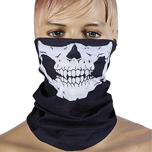 Maske Halbes Gesicht Halloween Schädel Karneval Wache Hals (Scream Maske Gesicht)