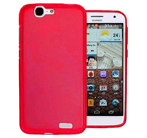 TBOC® Rot Gel TPU Hülle für Huawei Ascend G7 Ultradünn Flexibel Silikonhülle
