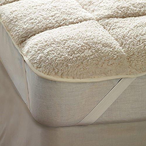 sherpa-fleece-mattress-toppers-reversible-sleepbeyond-beige-double