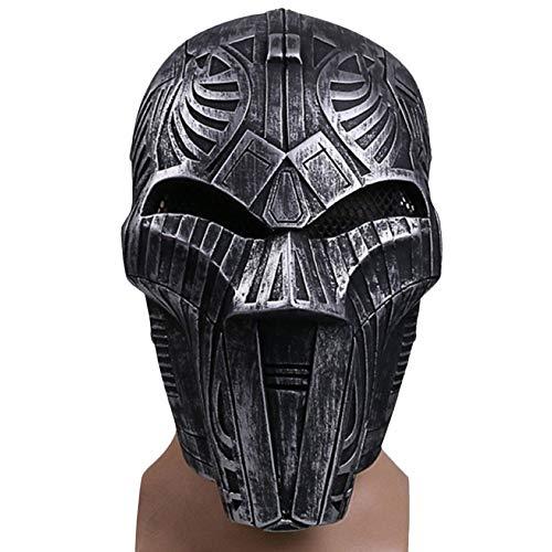 Wars Sith Lord Star Kostüm - QQWE Star Wars Sith Lord Maske Helm Spielfilm Cosplay Halloween Weihnachten Maske Performance Show Kostüm Requisiten,A-OneSize