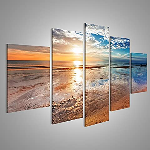 Large Artwork Beach Ebb Sunset Modern Pictures Print Posters On Canvas