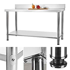 150x60cm arbeitstisch gastro tisch aus edelstahl k chentisch edelstahltisch 1500. Black Bedroom Furniture Sets. Home Design Ideas