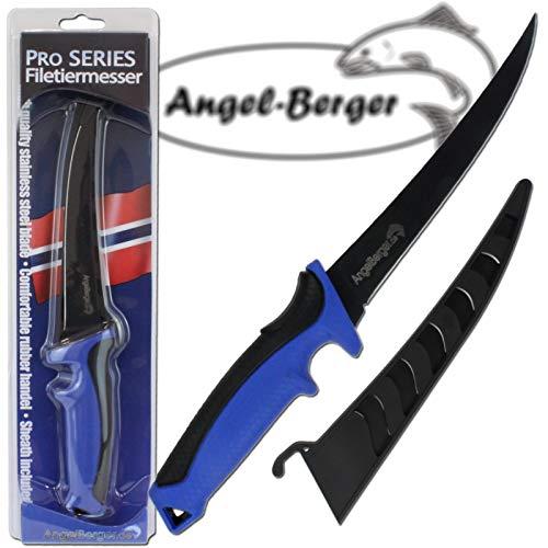 Angel Berger Edelholz Filetiermesser mit Messerscheide sehr scharf sehr stabil