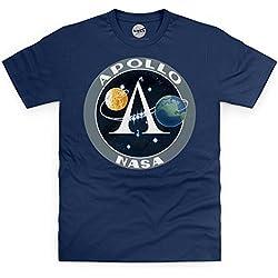 Camiseta oficial NASA Apollo Logo para Hombre, Azul Marino