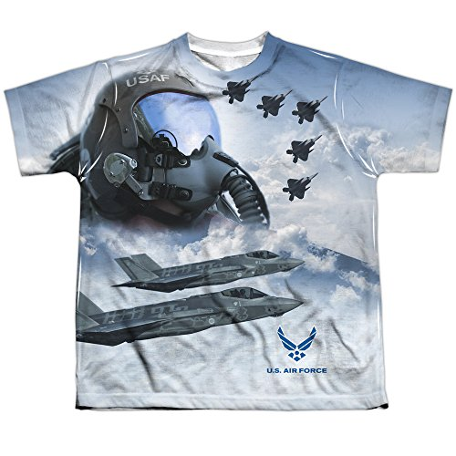 Airforce Jungen T-Shirt Opaque mehrfarbig mehrfarbig Gr. Jugend S, mehrfarbig (Air-force-kinder-t-shirt)