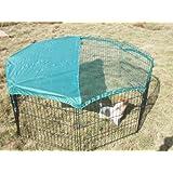MY BEST großer schwarzer Kaninchenauslauslaufstall, Auslaufgehege für Kaninchen oder Hasen (inkl. Sicherheitsnetz)