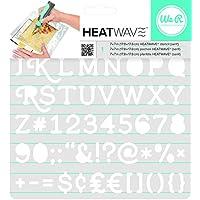 American Crafts We R Memory Keepers Heatwave Serif Schablone, 17,8x 17,8cm