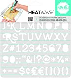 American Crafts WE R Memory Keepers Heatwave Serif Schablone, 17,8 x 17,8 cm