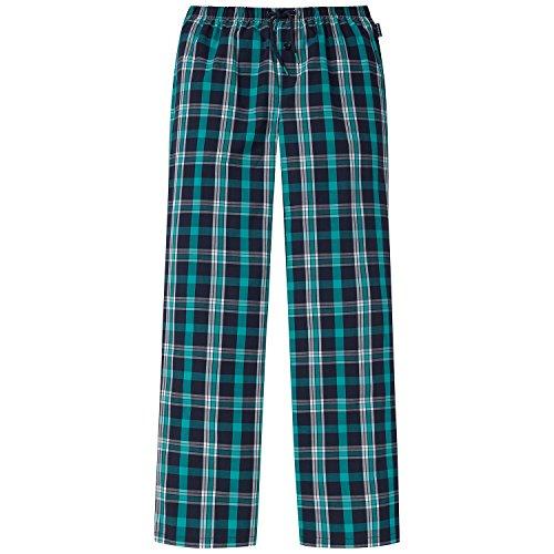 Schiesser Jungen Schlafanzughose Mix&Relax Web Pants, Blau (Nachtblau 804), 128