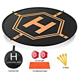 Drone Landing Pad 81,3 cm (80 cm) con luci LED [2] [4 ABS Land Nails] e...