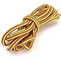 1 par de cordones Ungfu Mall, multicolor, de 120 cm, fuertes, redondos