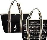 Handtasche aus Segeltuch mit Notenschlüssel/Musik Design für Musiker