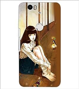 PrintDhaba Fantasy Girl D-6037 Back Case Cover for HUAWEI NEXUS 6P (Multi-Coloured)
