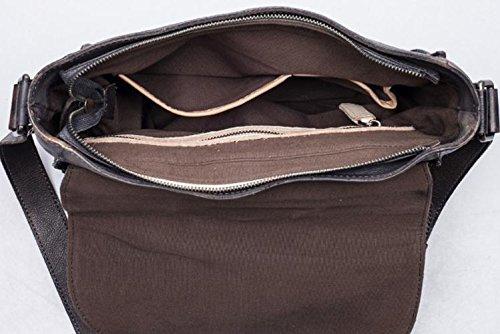 DJB/Leder Herren Schultertasche/Bag/Mini Solid Farbe Retro Herren/Freizeit/Herren Messenger Taschen Grau