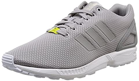 adidas ZX Flux Unisex-Erwachsene Laufschuhe, Grau (Aluminum/Running White),