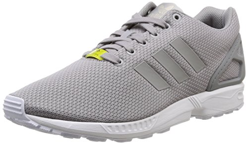 adidas Unisex-Erwachsene ZX Flux Low-Top Sneakers, Grau (Aluminum/Running White), 42 2/3 EU