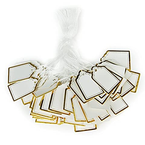 WINOMO Preisschilder Geschenk Anhänger Papieranhänger Hängeetiketten Anhängeetiketten Preis Etiketten Schilder Anhänger Papieretiketten - 500 Stücke