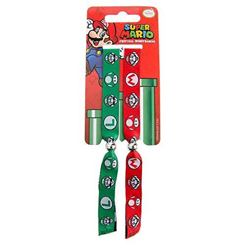 Super Mario - Red And Green Braccialetto, Diametro: 65mm, Larghezza: 24mm, Spessore: 1mm taglia adattabile (10 x 2cm)