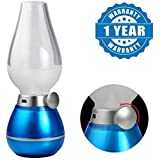 Captcha® Rechargeable LED Retro Blow Sensor Lamp Emergency Light For Decorative Blowing Adjustable Blow On/Off Night With USB Suitable With All Android Or Iphone Devices (1 Year Warranty, Color May Vary)