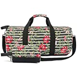 Oflamn Kleine Reisetasche für Männer und Damen - Sporttasche Segeltuch Trainingstasche - Travel Duffel Bag & Sports Gym Bag (1.0 Rosa)