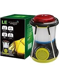 LE Lampe de Camping Rechargeable 400LM, Projecteur Dimmable Câble USB inclus, 3 modes, Parfait pour la Randonnée, Camping, Trail, Activités en Extérieur