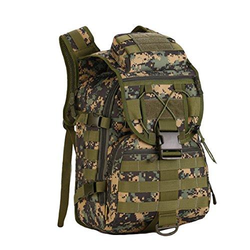 Tarnung Im Freien Bergsteigen Tasche 40 Liter Abmessungen: Breite Hoch 47x 31x 23 Cm Dick,Black JungleDigital